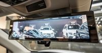 The dual-function rear-view mirror which provides a clear digital image, even at night