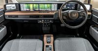The unique full-width digital dashboard features five display
