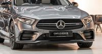 Striking and unmistakable, the AMG-specific radiator grill with vertical struts, integrated Mercedes star and AMG lettering